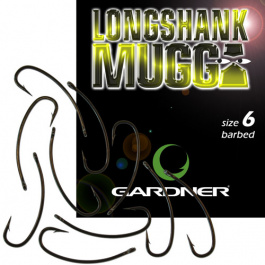 Крючки Gardner Long Shank Mugga Hooks