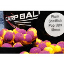 Бойлы Carpballs Pop Ups 10 mm  Plum Shellfish (Слива и Рыба)
