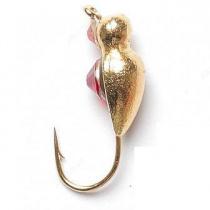 Мормышка вольфрамовая «Жук» с петелькой и кристаллом Swarovski Salmo