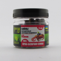 Бойлы Grandcarp насадочные долгорастворимые cерия Premium КРАБ • БЕЛАЧАН • СЛИВА  Ø12 мм