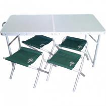 Стол складной Ranger + 4 стула (TA21407+FS21124)